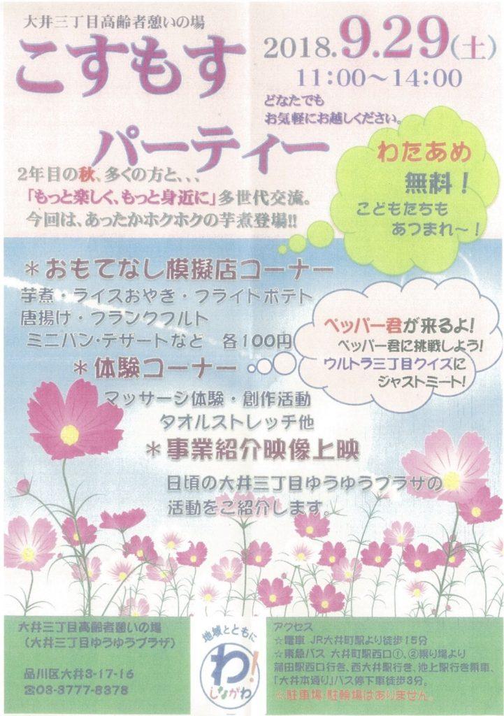 コスモスパーティ紹介パンフ