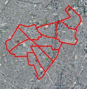 板五小周辺の航空マップ(現在)