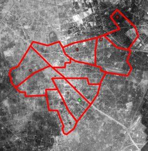 板五小周辺の航空マップ(90年前)