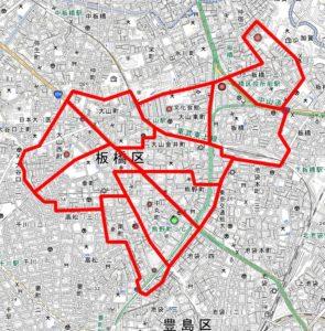 板五小の周辺地図